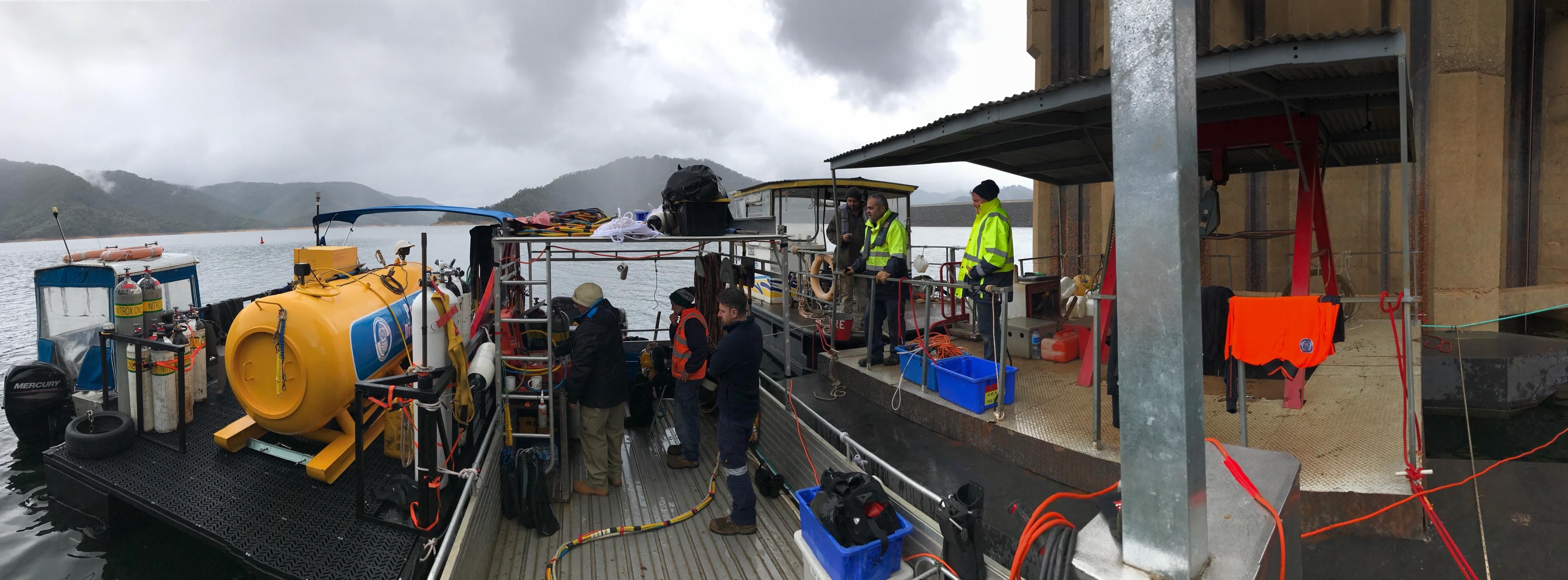 Lake Eildon Commercial Diving Crew