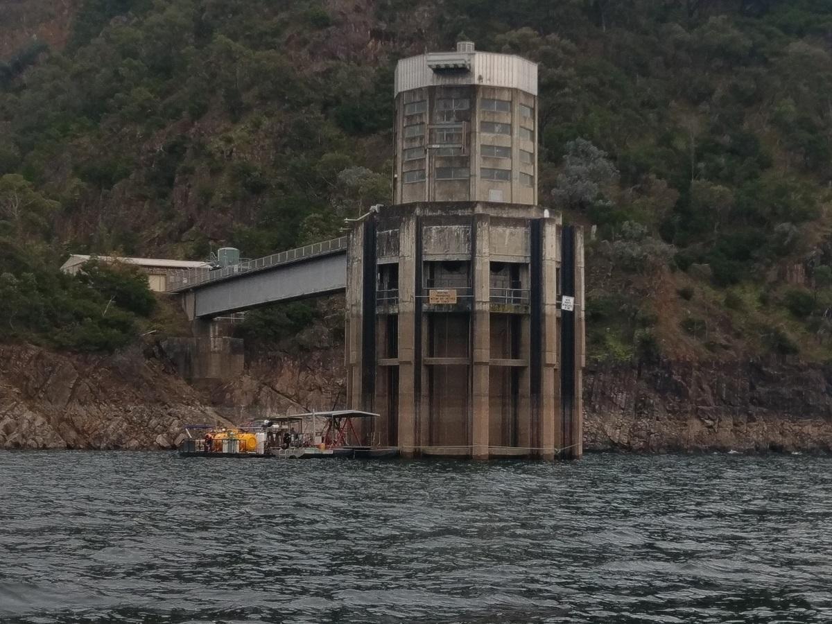 Lake Eildon tower diving crew
