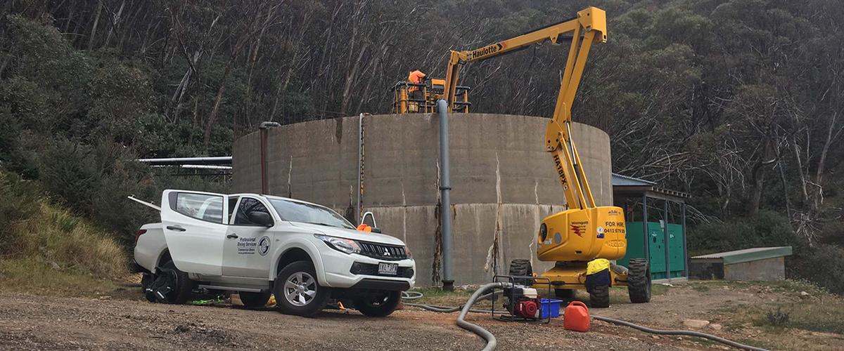 Mount Buller tank inspection