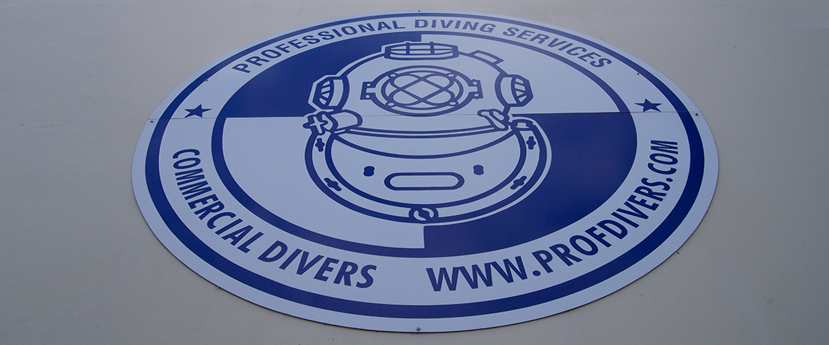 Professional Diving Services Sign