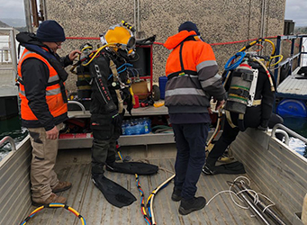 Industrial Diving Team at Cardinia Reservoir