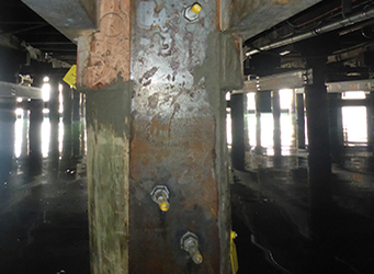 pile under central pier