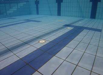swimming pool tiles inspected by commercial diver