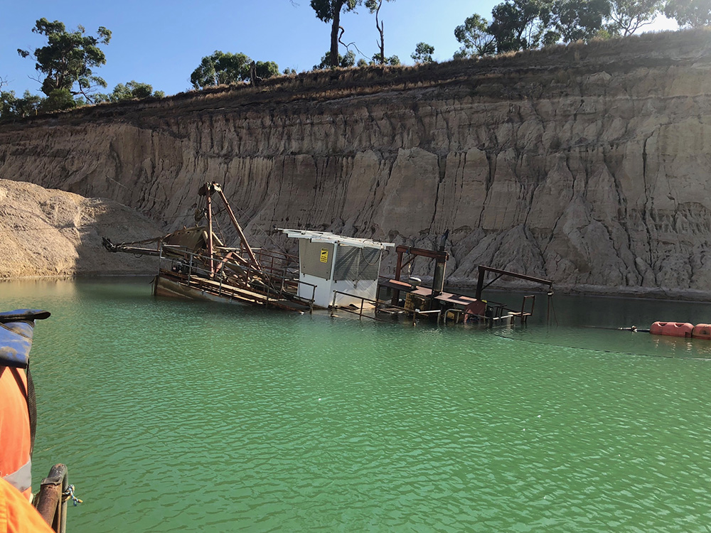 Salvage of sand dredger