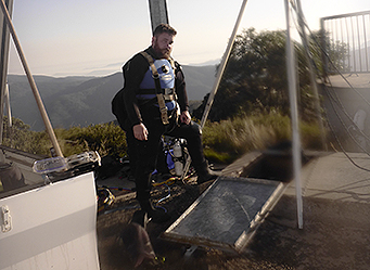 Diver working on Mount Buller Potable Water Tanks