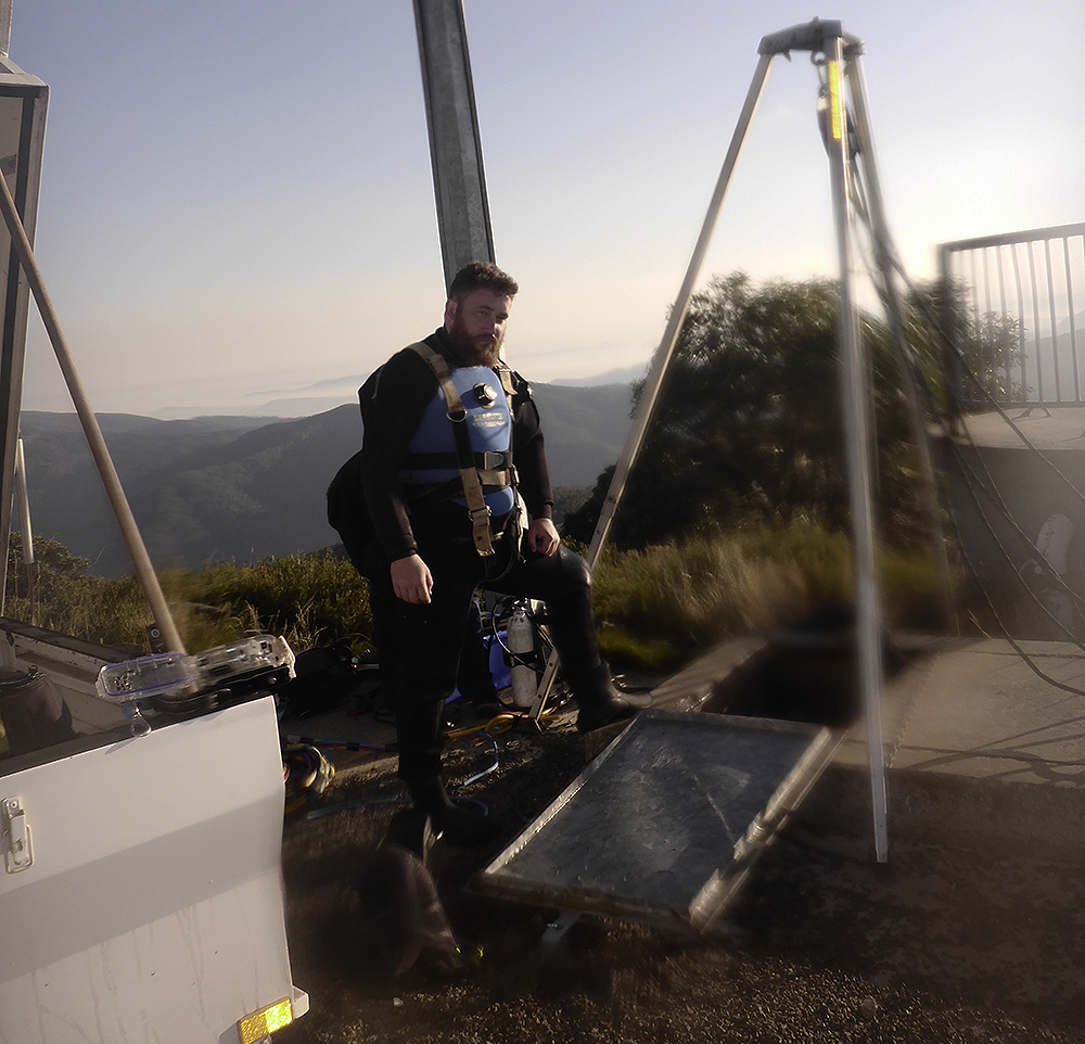 Diver working on Mount Buller