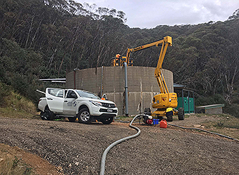 PDS Crew inspecting Mount Buller Potable Water Tanks