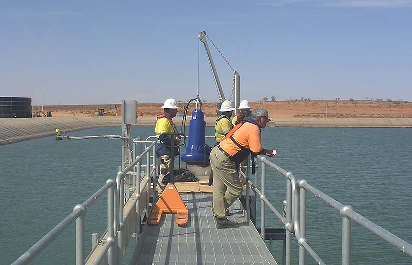 PDS Crew installing submersible pump