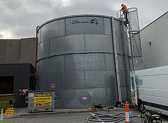 PDS Fire water storage tank inspection and cleaning
