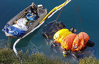 Blue lake car salvage operation
