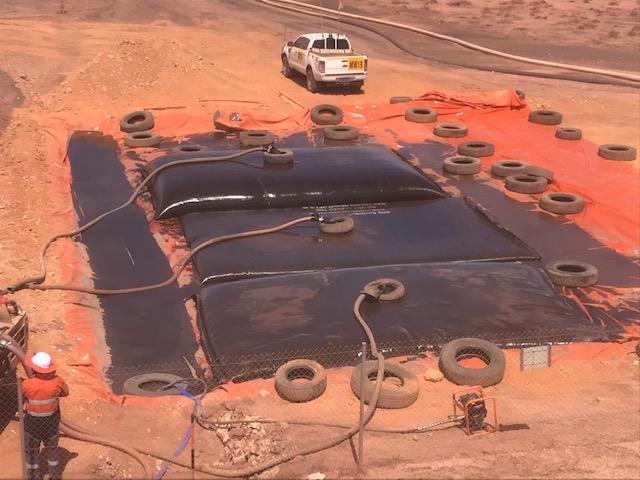 Mine raw water dam sediment removal