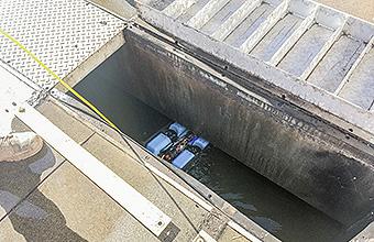 ROV in drain