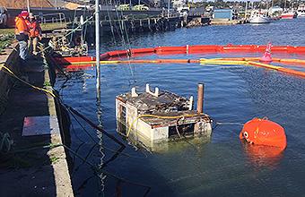 Yacht salvage in Portland Victoria