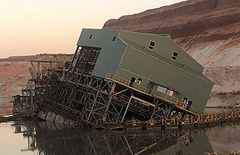 sand mining dredge salvage