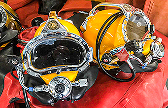 Kirby Morgan Diving helmets
