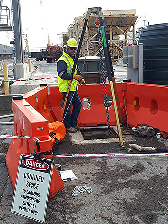Confined space work at port of portland