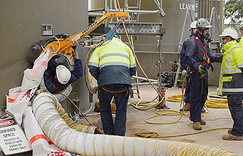 Smartarm used for confined space work