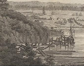 Windsor bridge historical etching