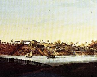 Windsor bridge historical painting