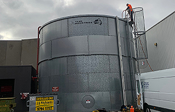 Fire water storage tank inspection and cleaning