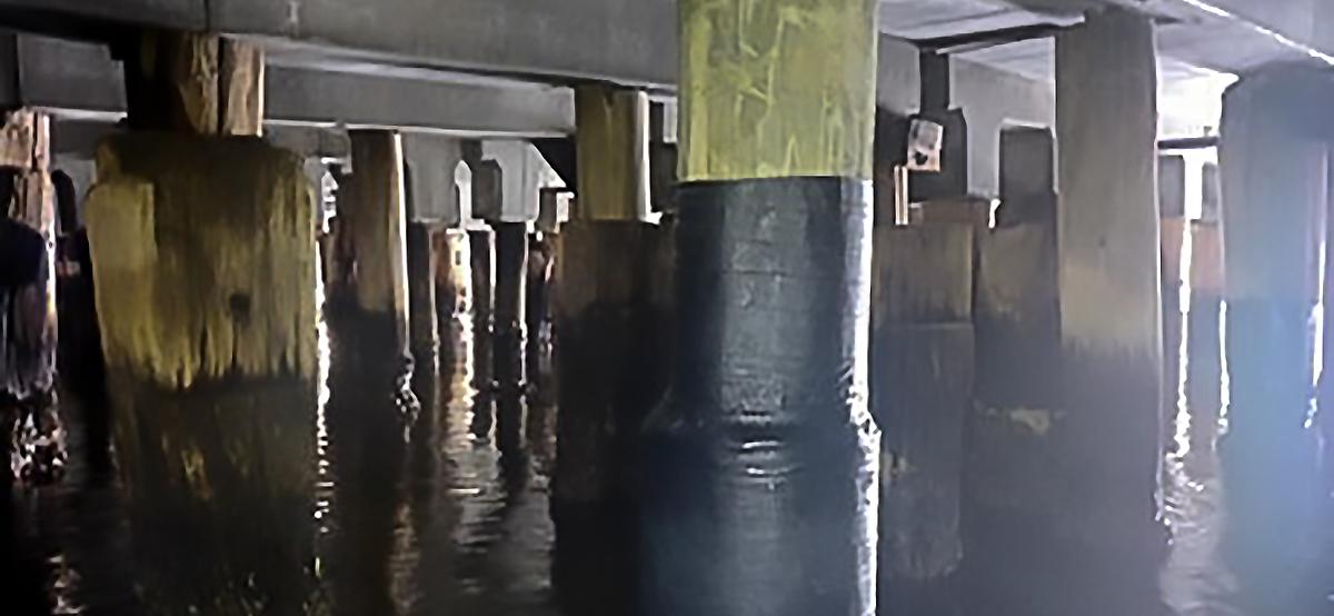 Station pier piles